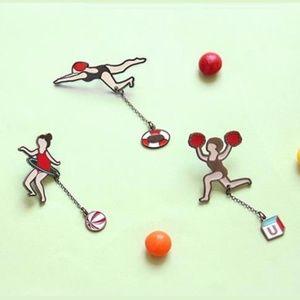 Girls in Sports Enamel Charm Pins
